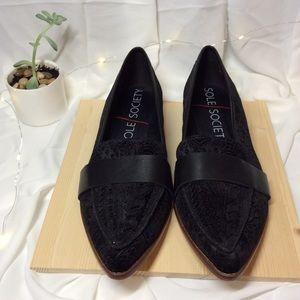 Sole society Edie Smoking Slipper Flat Loafer Shoe